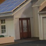 a model of a house with solar panels from the 2015 UT Energy Week Startup Competition